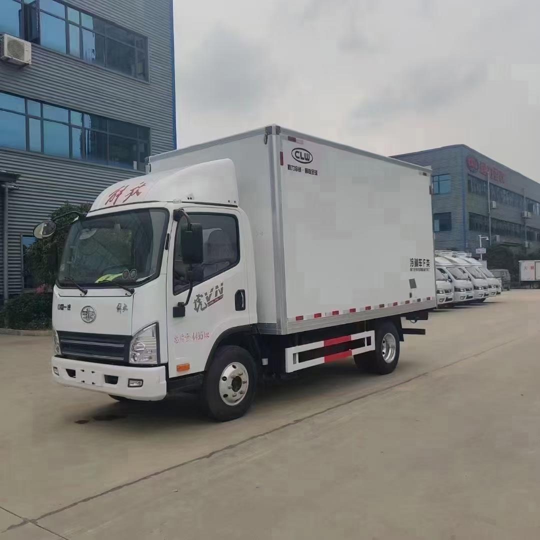 国六解放蓝牌冷藏车厂家4.2米冷藏车价格图片