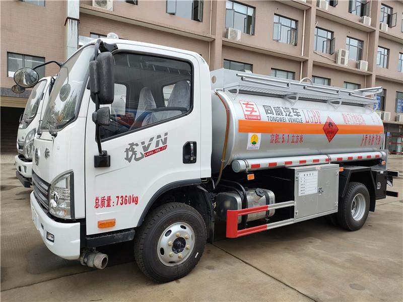中石油罐车 国六油罐车厂家  5吨油罐车参数 解放虎VN 5.1方加油车支持分期