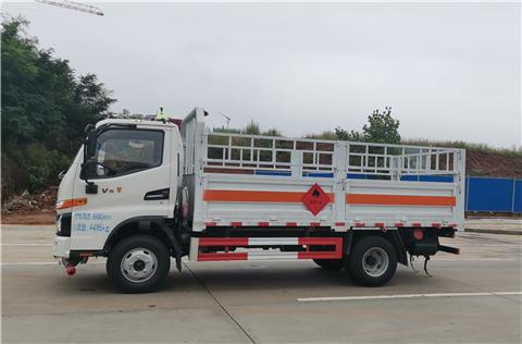 蓝牌国六高端江淮骏铃V5货箱4米2苍栏式气瓶运输车图片