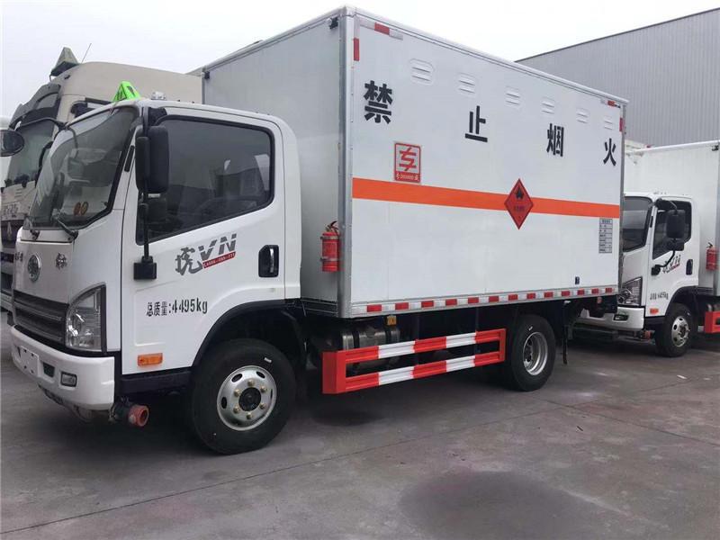 解放蓝牌国六4.2米氧气瓶液化气瓶箱式运输车图片