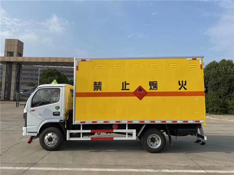 新款东风多利卡D6易燃气体厢式运输车直售