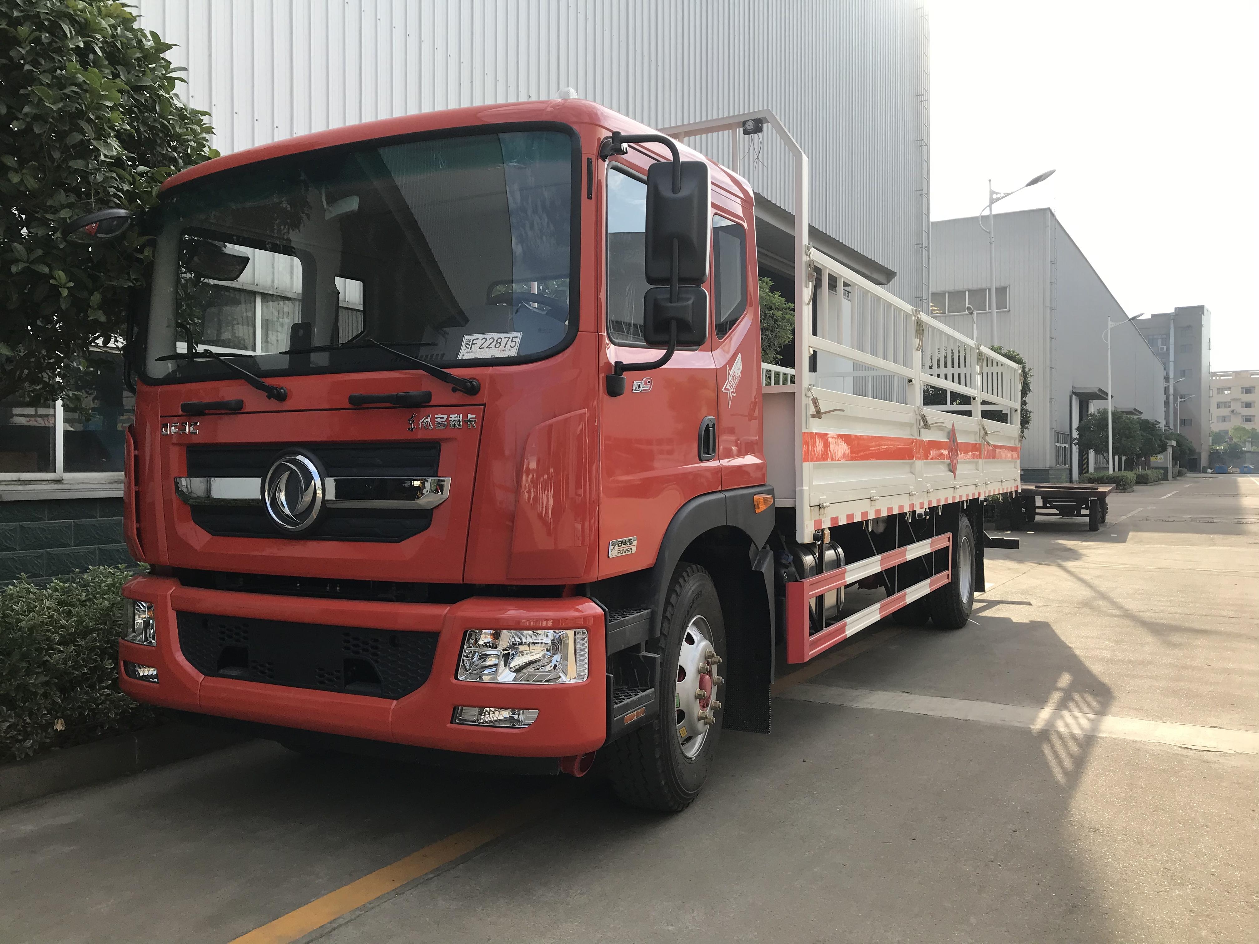 国六6米8高栏气瓶运输车东风D9爆破器材专用车视频图片