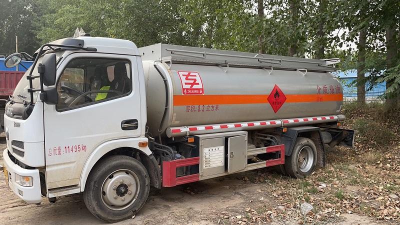 全国能异地审二手8吨油罐车处理价 川X户国五8吨油罐车视频视频
