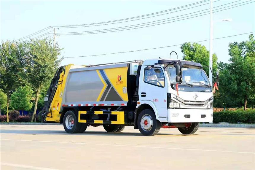 国六9立方东风凯普特压缩垃圾车程力厂家现车视频图片