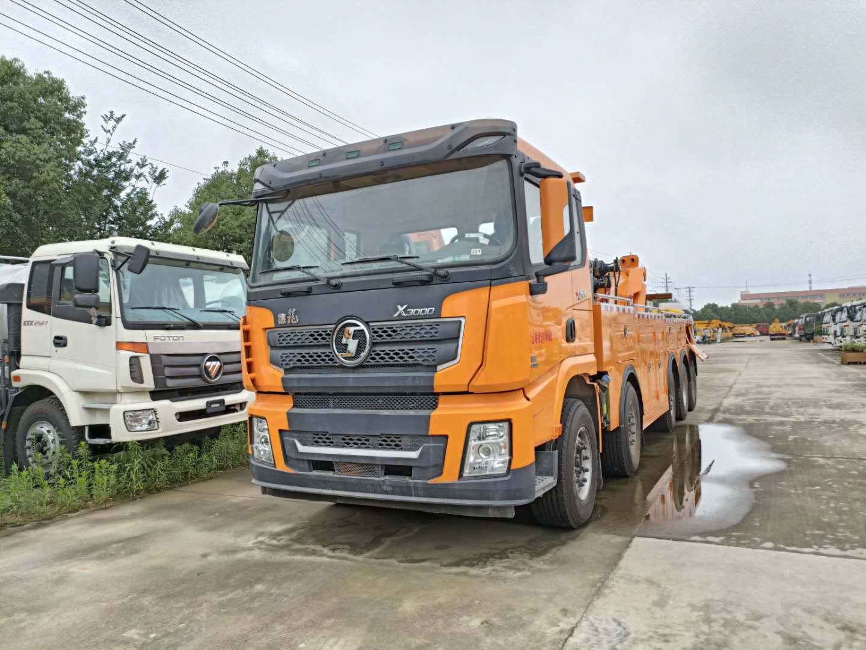 30吨陕汽德龙大型清障车价格国六道路救援拖车厂家图片