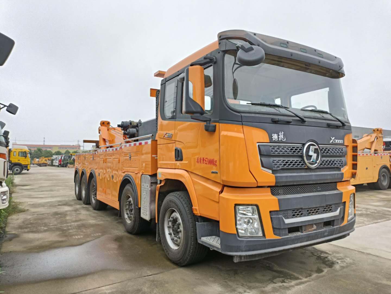 5轴陕汽德龙道路救援拖车价格国六30吨拖车厂家救援载重120吨