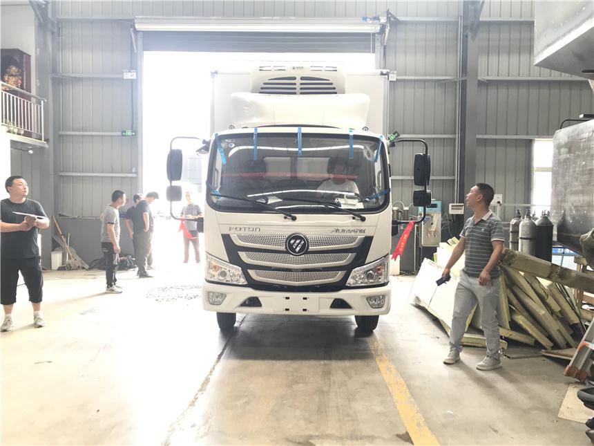 國六冷藏車4米2藍牌歐馬可-15度冷藏車瓜果蔬菜凍肉運輸車圖圖片