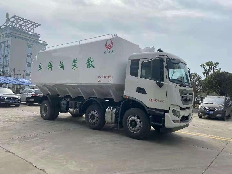 国六东风天锦短轴距小三抽15吨16吨17吨饲料车价格,厂长笔记82
