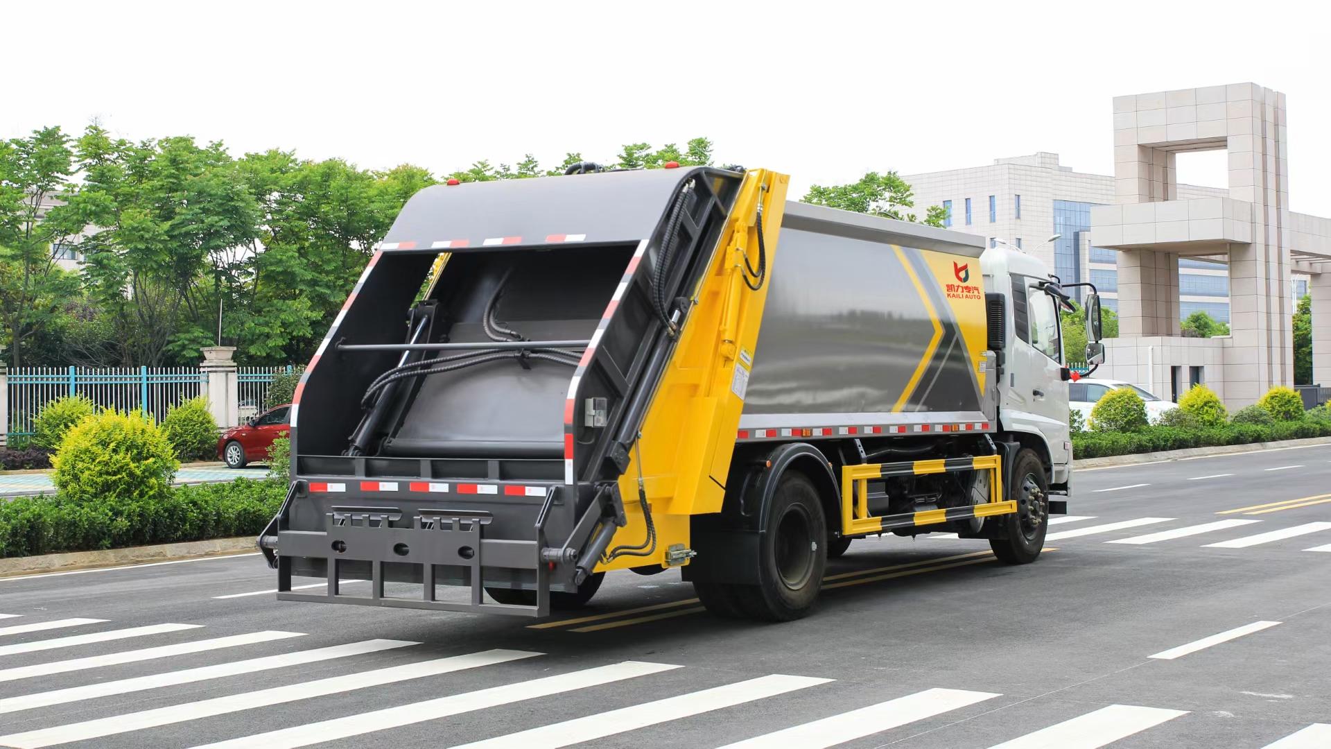 國六東風天錦14方壓縮垃圾車圖片