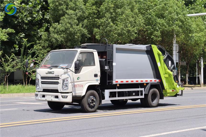國六江鈴9方壓縮垃圾車程力廠家對接垃圾車質量過硬售后好視頻