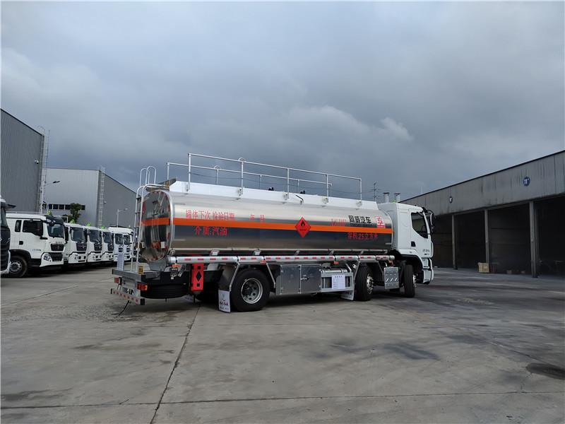 专威牌HTW5267GYYLLZQ6型 东风柳汽铝合金运油车视频