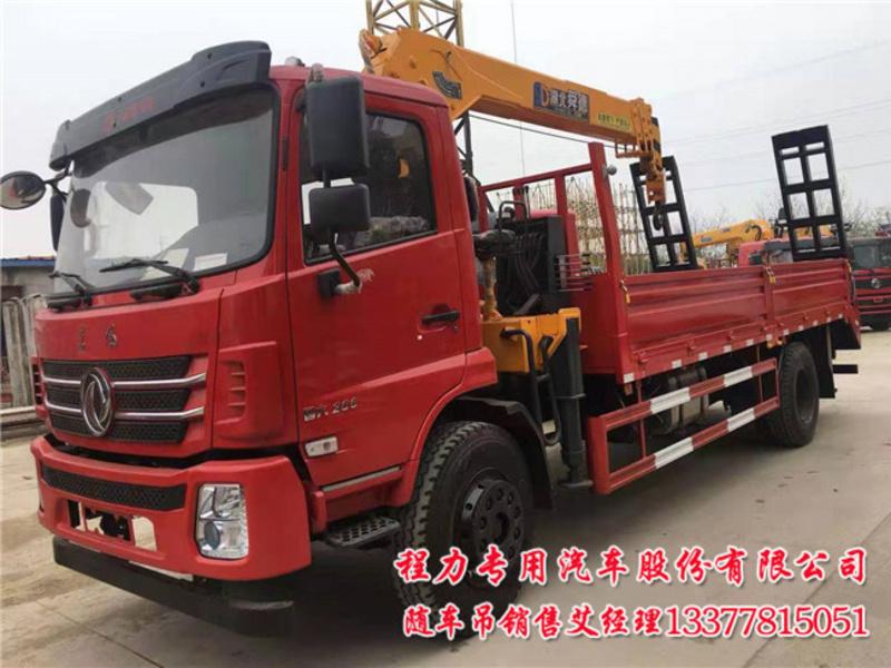 6米1货车带吊8吨D17随专国六6.1米随车吊配置价格咨询电话图片