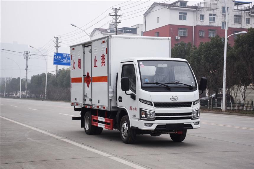 國六3.5米藍牌躍進雜項危險品廂式運輸車視頻視頻