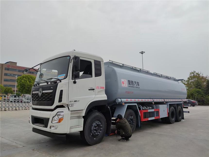 國六20噸減水劑運輸車東風天龍前四后八洗井液運輸車潤滑油圖片圖片