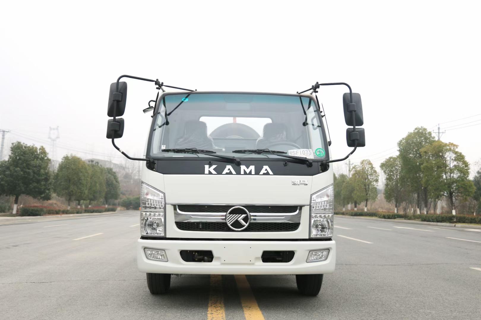 凱馬藍牌車廂可卸式垃圾車廠家直銷在哪里包送到家圖片
