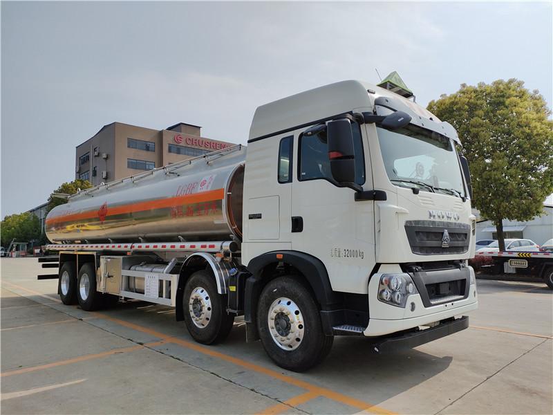 楚勝牌重汽豪沃CSC5327GYYLZ6A型鋁合金運油車視頻視頻