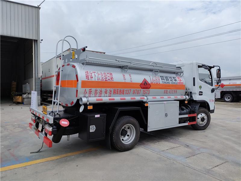 國六東風福瑞卡4噸油罐車報價 核載3噸半加油車低價促銷視頻