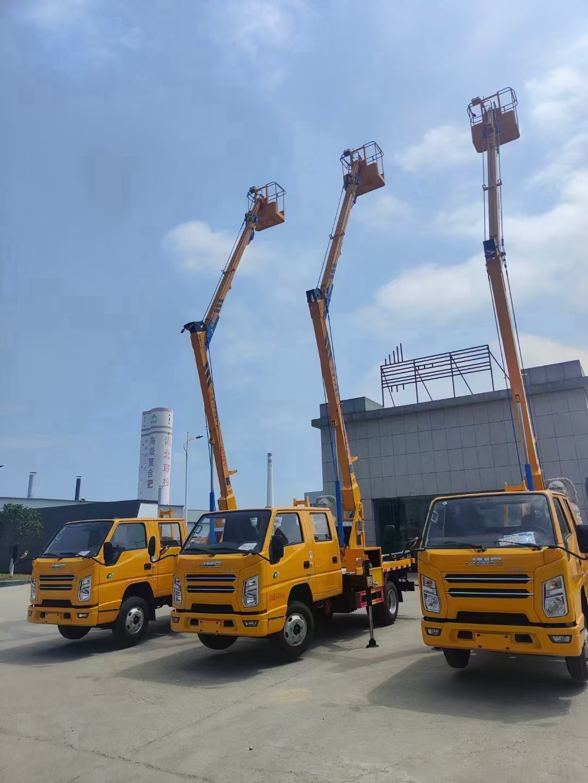 江鈴13米高空作業車價格 藍牌高空作業車視頻