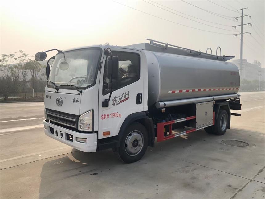 國六10噸解放虎V減水劑  潤滑油 食用油 白酒運輸車圖片圖片