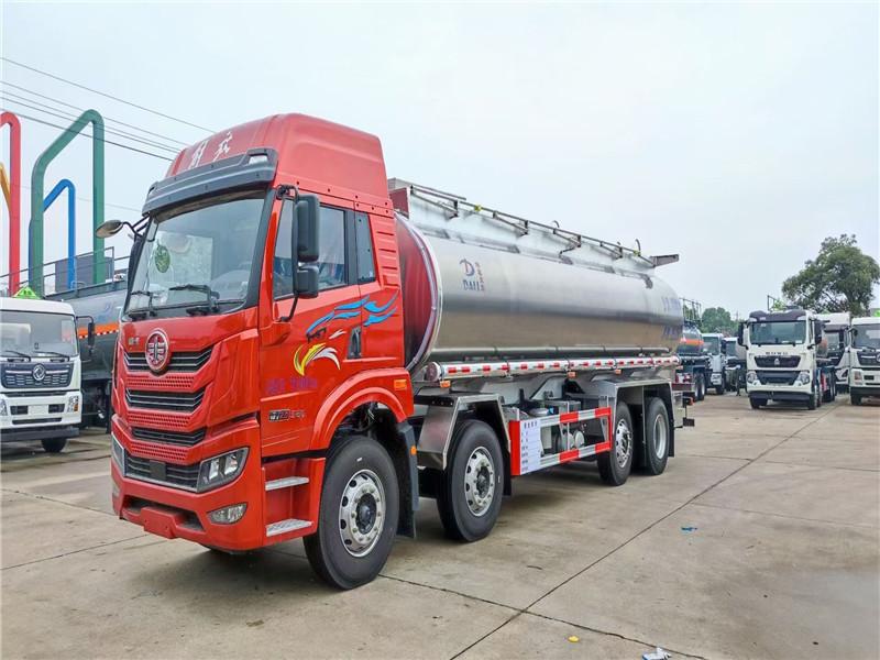 解放前四后六20吨食用油减水剂润滑油运输车视频