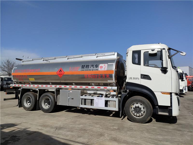 東風天龍后雙橋國六排放17噸鋁合金油罐車配置 山區利器視頻