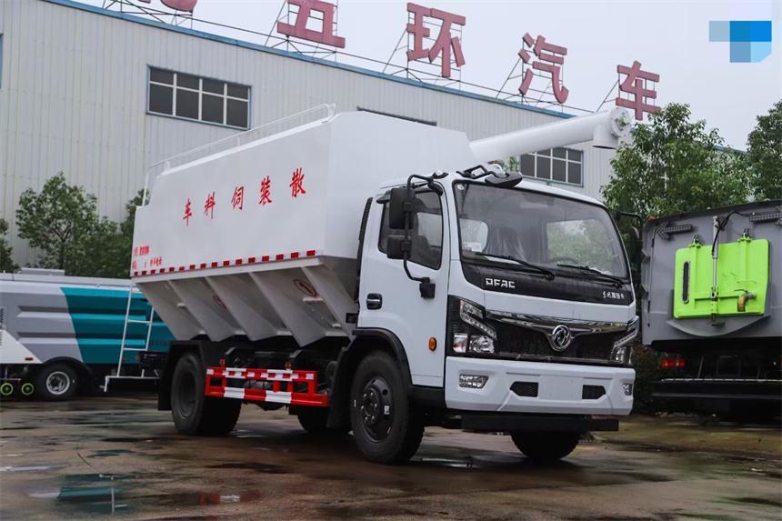 国六8吨东风散装饲料车猪苗鸡苗饲料运输车图片图片