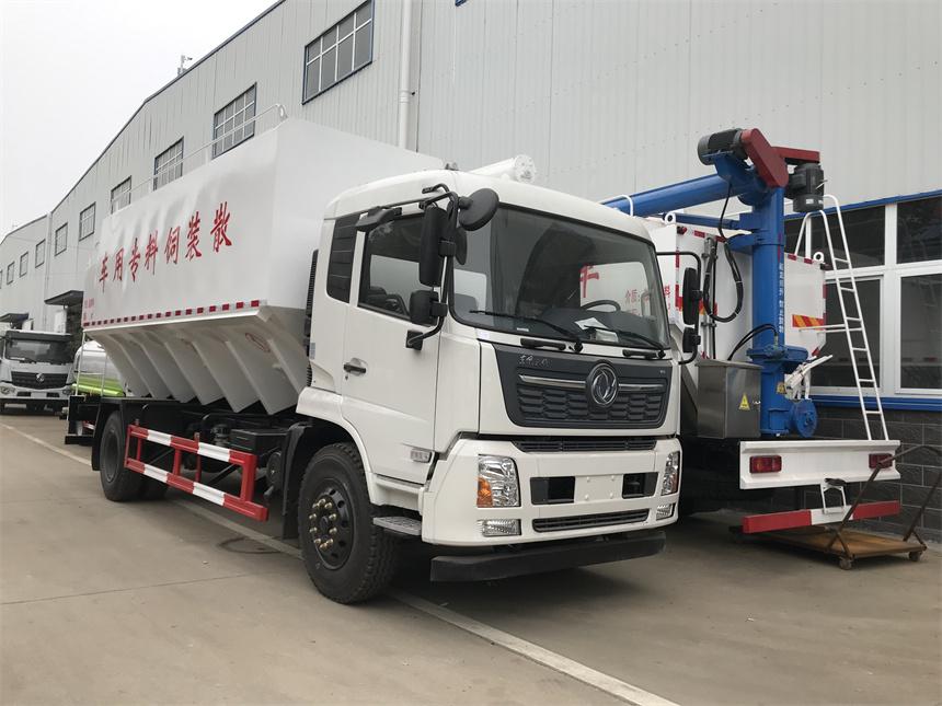 国六东风天锦10吨散装饲料运输车厂家分期价格图片