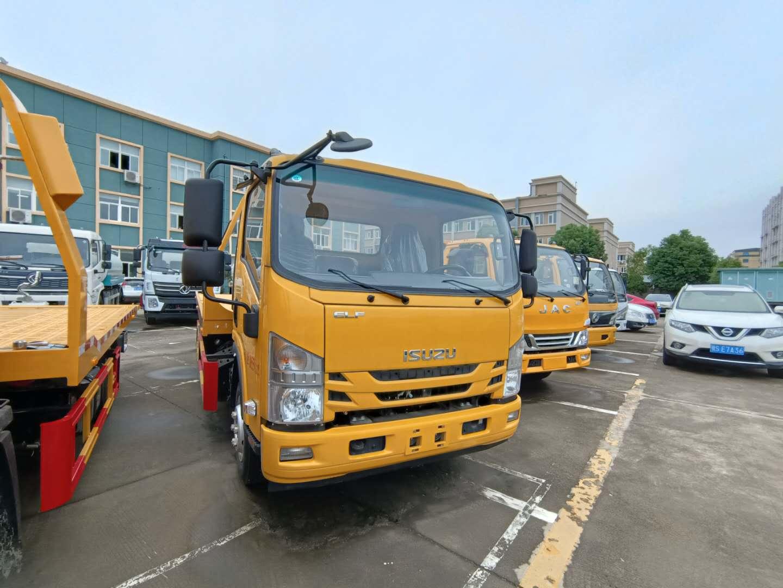 黄牌庆铃五十铃700P宽体清障车厂家现车6吨上装拖车图片