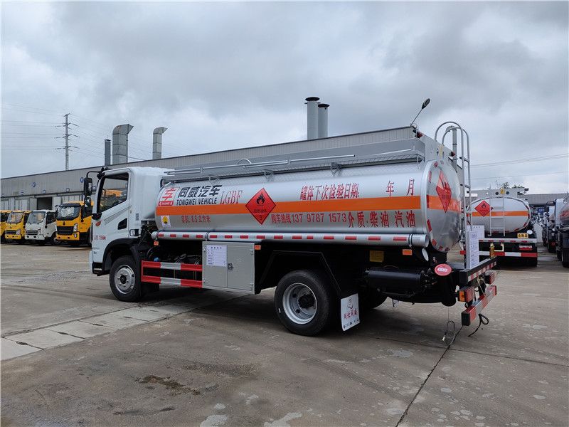 国六东风华神T3单桥8吨加油车厂家批发 玉柴165马力 视频视频