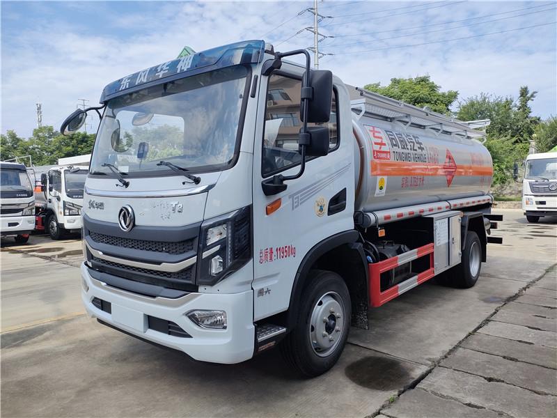 東風華神國六8噸加油車 汽油危險品9.75方罐式運輸車視頻視頻