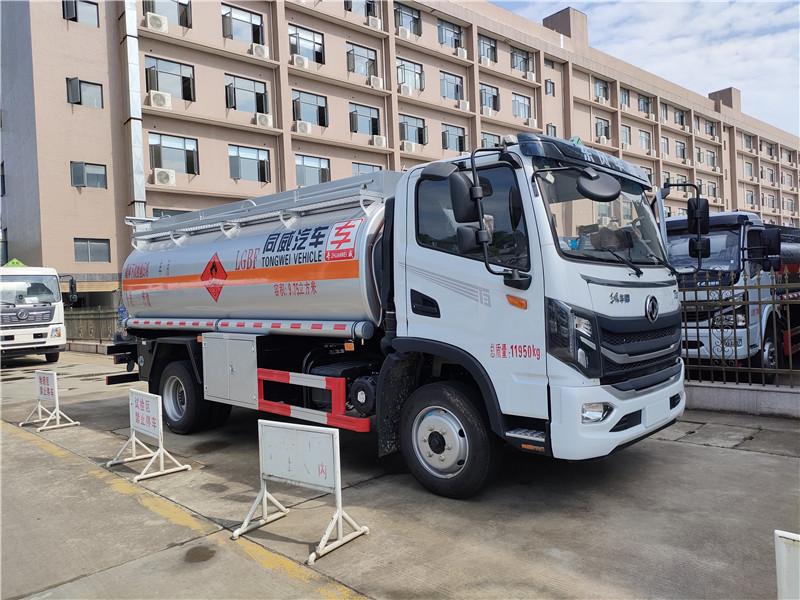 國六9噸加油車 東風華神9.75方加油車 大容積油罐車視頻視頻