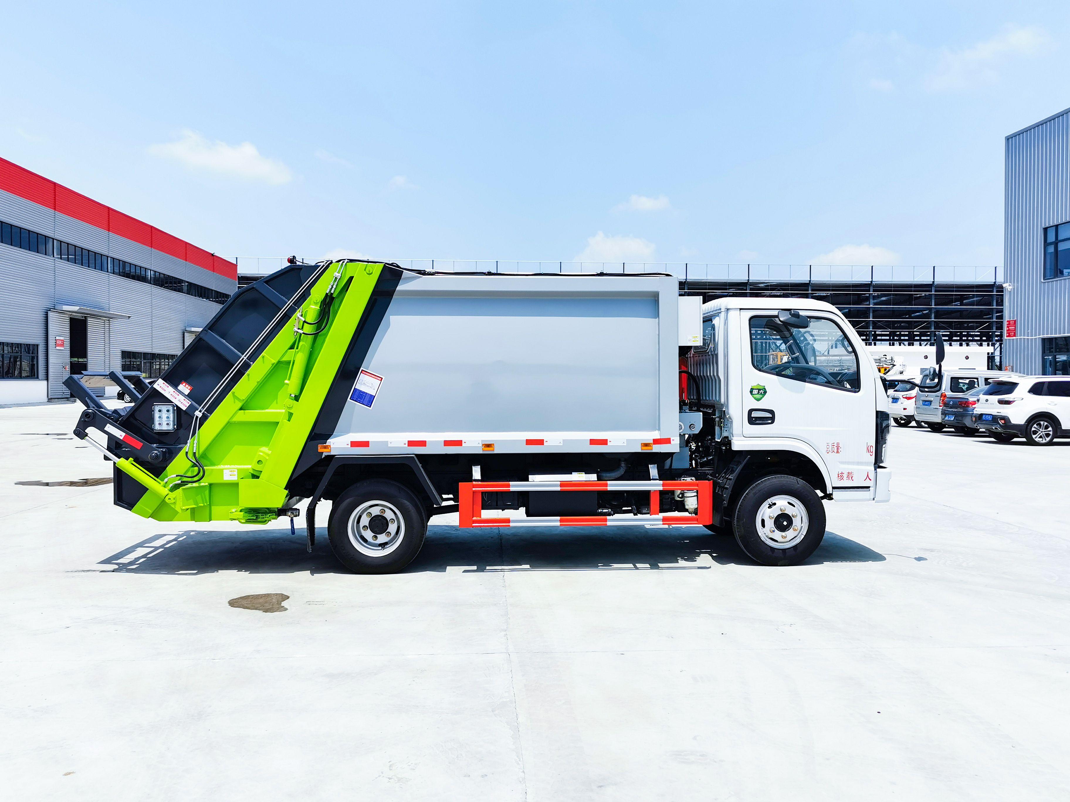 東風多利卡6方壓縮垃圾車108桶垃圾輕松裝下圖片