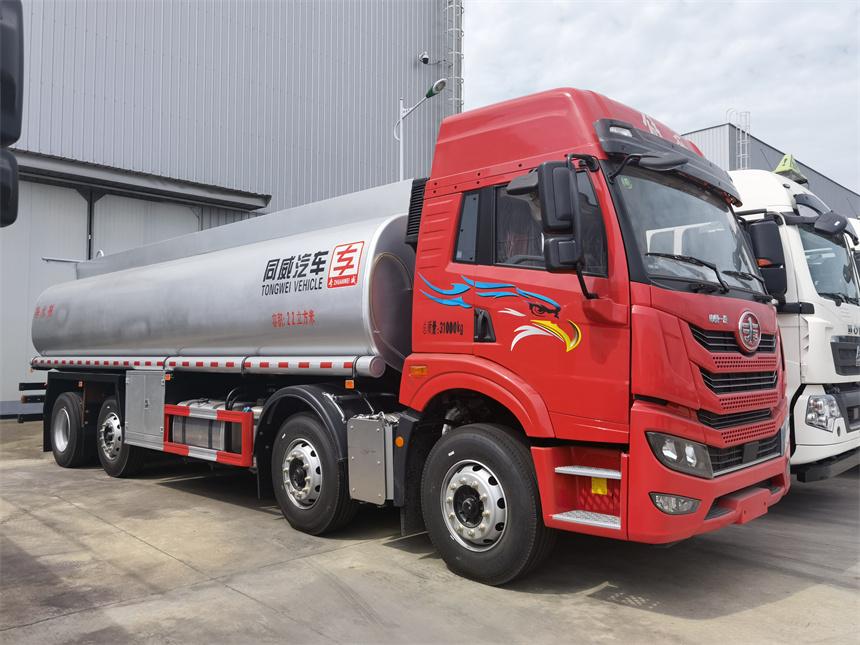 國六20噸解放前四后六普貨液罐車洗井液減水劑運輸車圖片