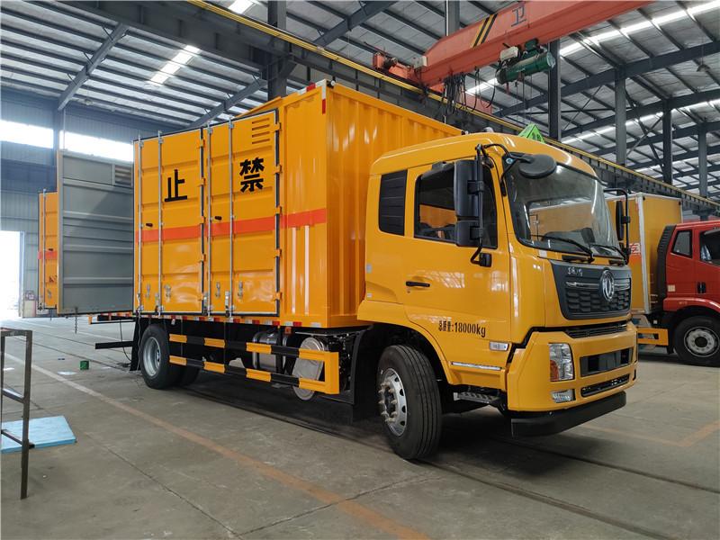 東風天錦雜項10噸危險品運輸車 6.8米危險廢物運輸車視頻視頻