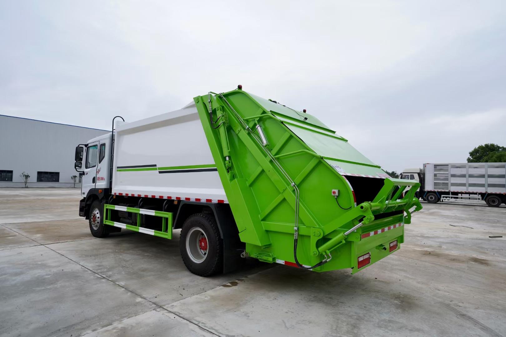國六東風12方壓縮垃圾車廠家價格多少錢圖片
