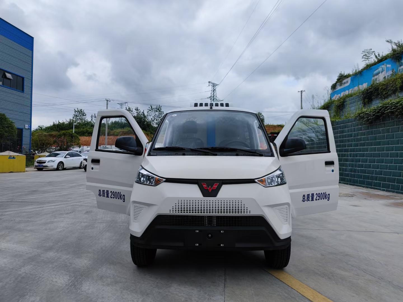新能源冷藏车价格五菱电动冷链车厂家介绍多层厢式门细节图片图片
