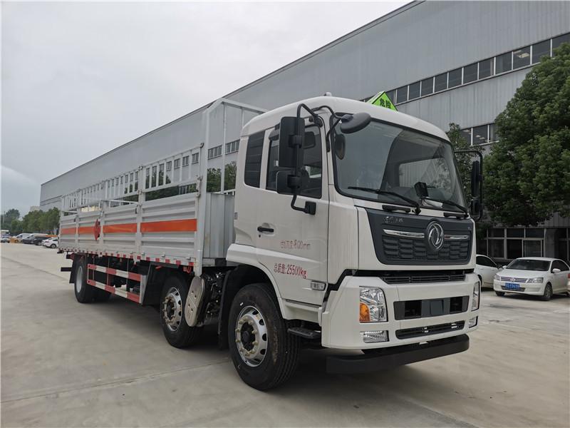 重庆箱长8米6高栏式氧气瓶运输车厂家直销包挂靠可分期视频