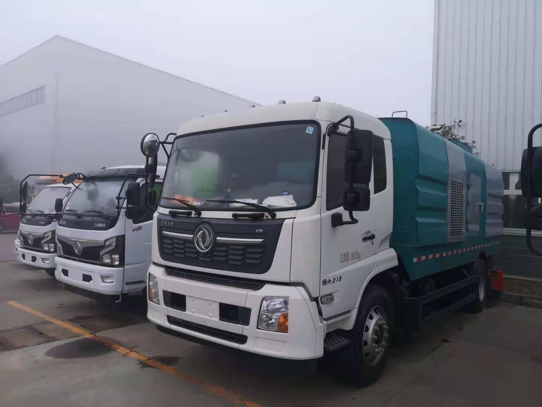 智能化国六10吨东风天锦洗扫车-带副发-现车销售政府招标车