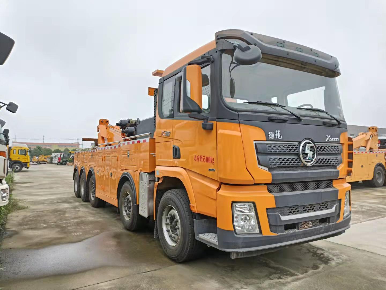 国六5轴陕汽德龙重型30吨拖吊一体道路救援拖车清障车报价