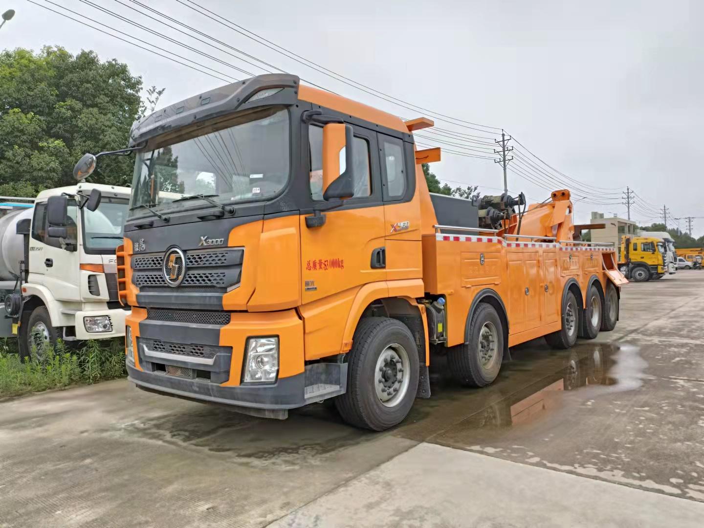 国六陕汽德龙前四后十救援拖车厂家介绍5轴潍柴460马力清障车价格