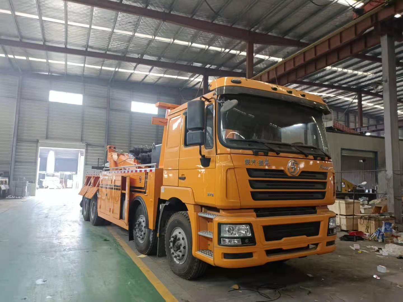 国六 陕汽前四后八拖吊联体清障车价格德龙25吨拖车救援湖北厂家