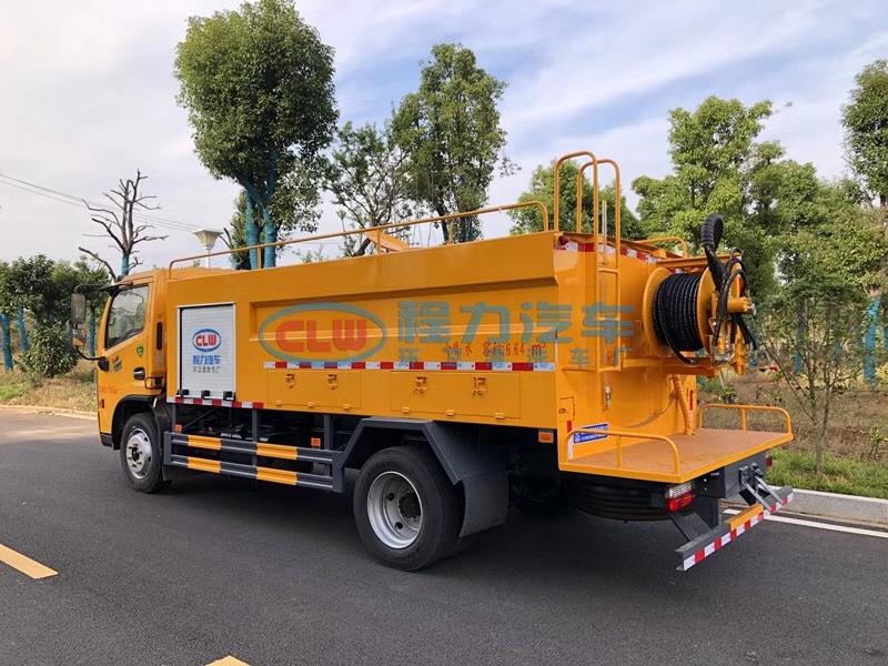 國六東風大多利卡8噸管道疏通車高壓清洗車廠家價格多少錢圖片