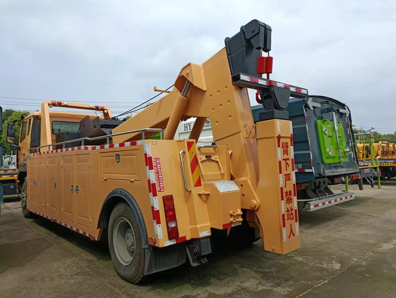 16吨重汽重型拖吊一体清障车价格图片310马力救援拖车厂家