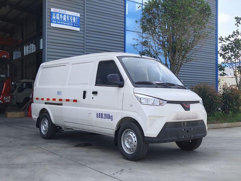 五菱新能源纯电动面包式冷藏车上市啦