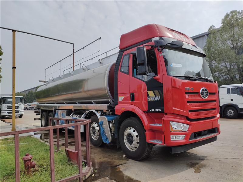 六安市稳顺汽车运输服务有限公司 22吨油罐车 国六解放前四后八26.3方铝合金油罐车参数价格