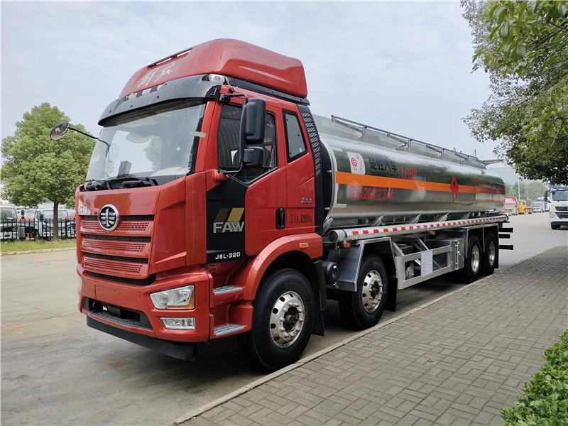 楚胜牌20吨油罐车厂家直销 国六解放J6L前四后八26.3方铝合金运油车包上户送车到家