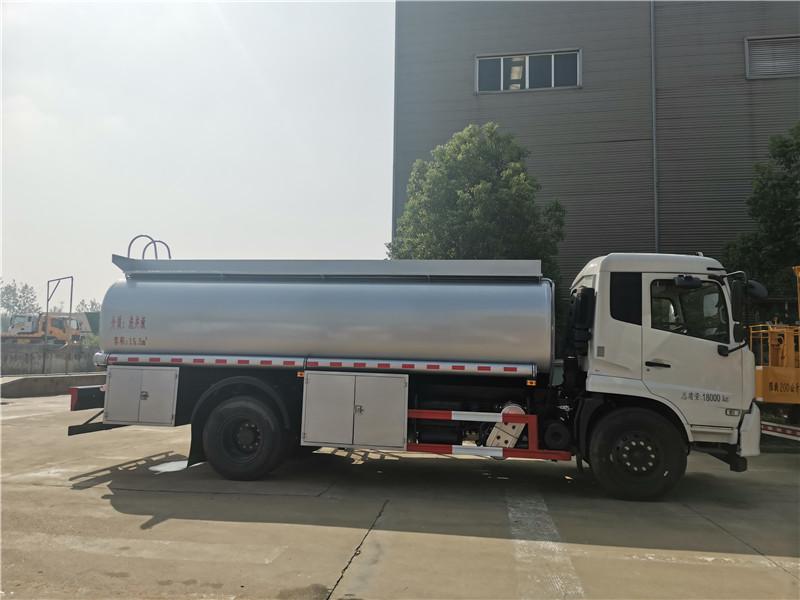 东风天锦国六单桥15.5方供液车 核载10吨减水剂罐式运输车视频