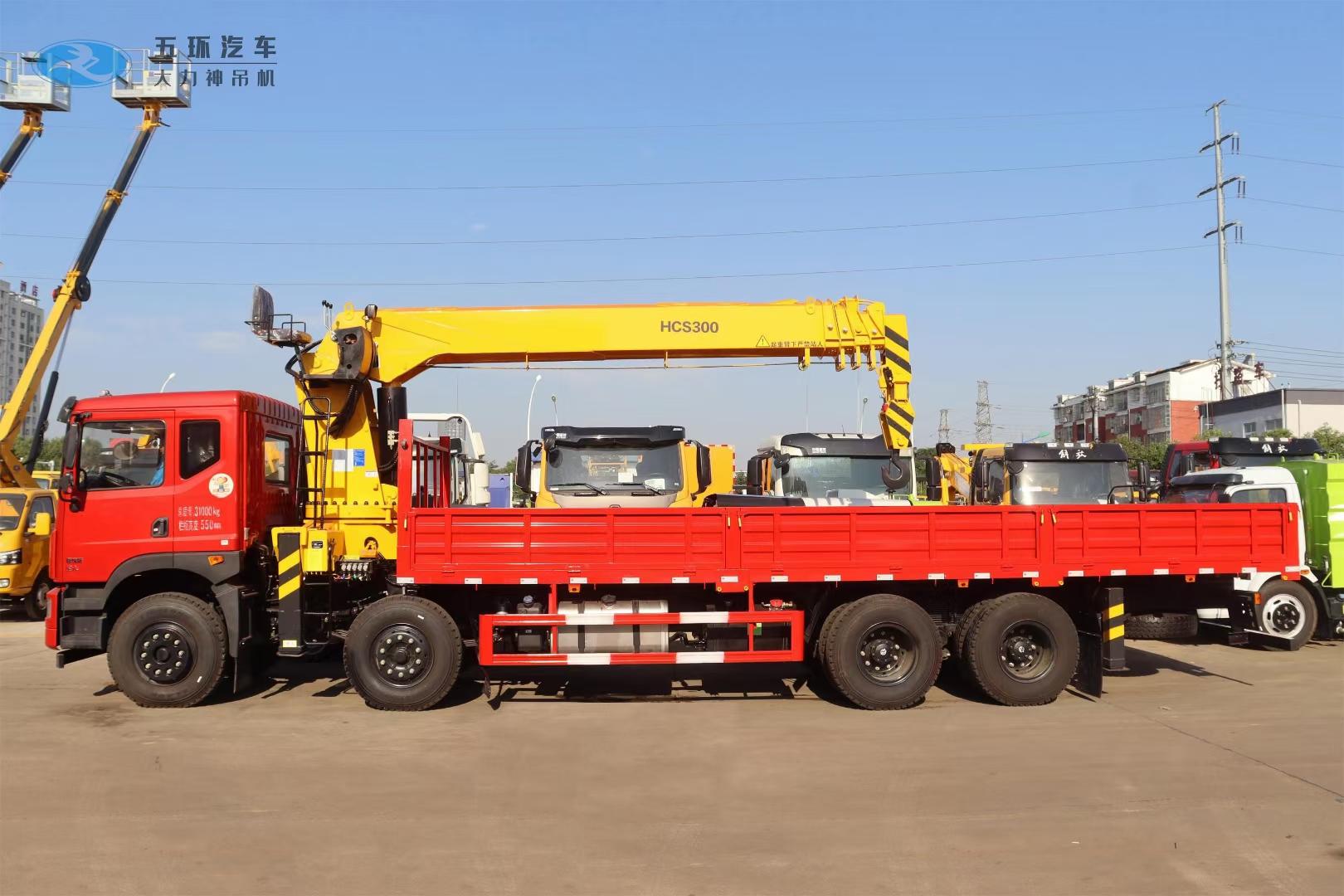 国六东风T5前四后八14吨随车吊图片