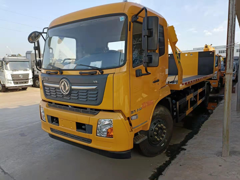 8吨东风天锦大平板清障车价格230马力8吨后托臂拖车多少钱