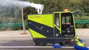 纯电动四轮轻型洗扫车视频